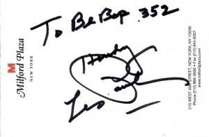Les Paul autographe