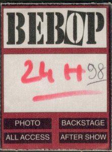 Pass pour un concert de Little Bob au 24h du Mans en 1998.